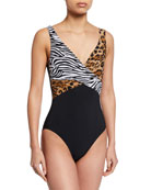 Karla Colletto Osa Surplice-Neck Printed One-Piece Swimsuit
