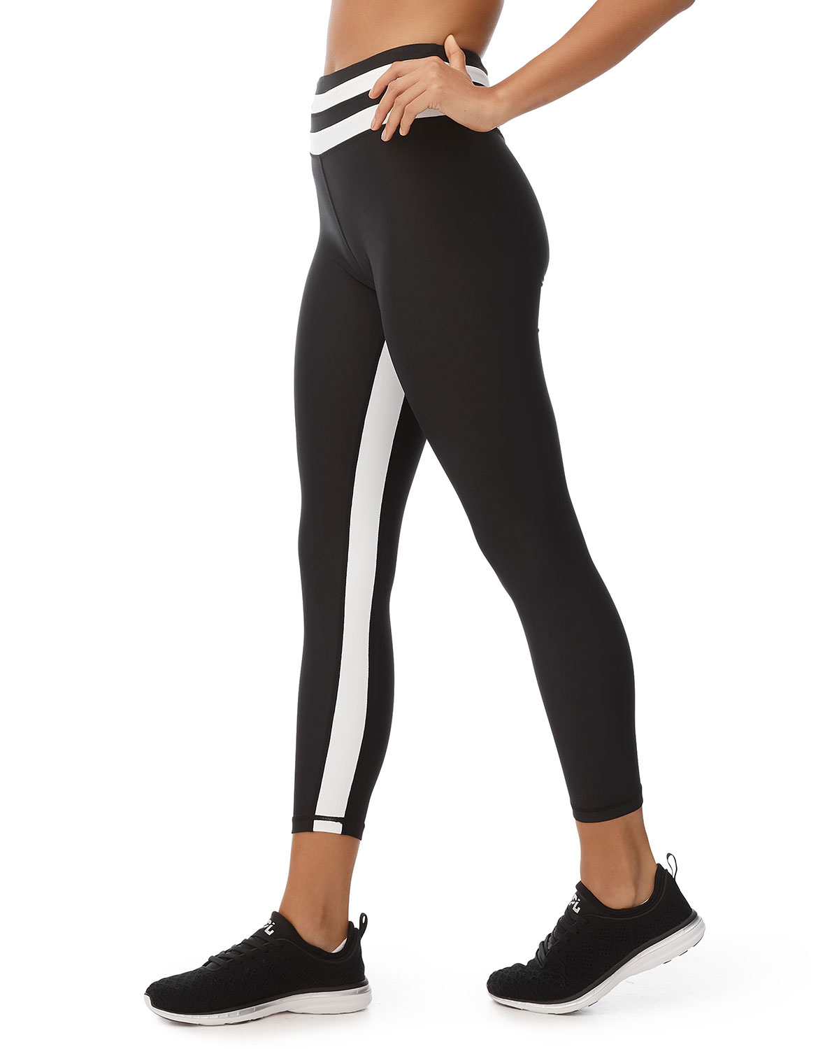 The Base Striped Cropped Leggings