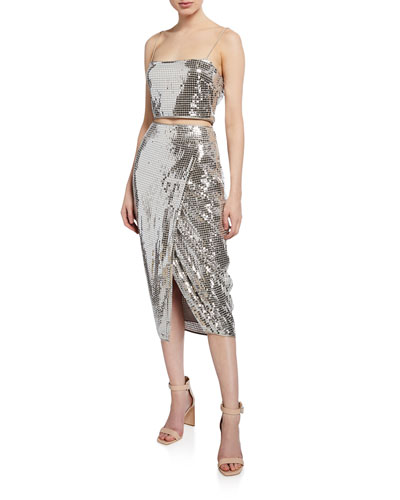 445ebfc4 Silver Metallic Dress | Neiman Marcus