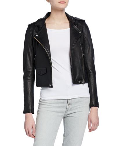Ashville Cropped Leather Jacket