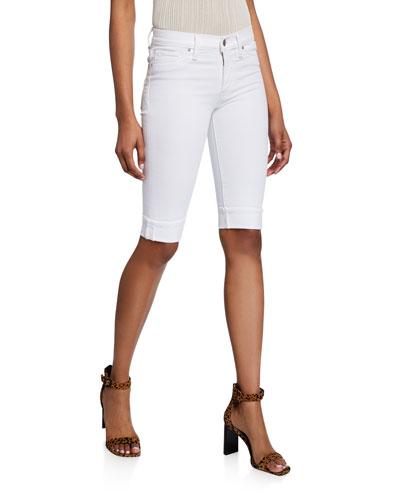 Amelia Cuffed Denim Bermuda Shorts
