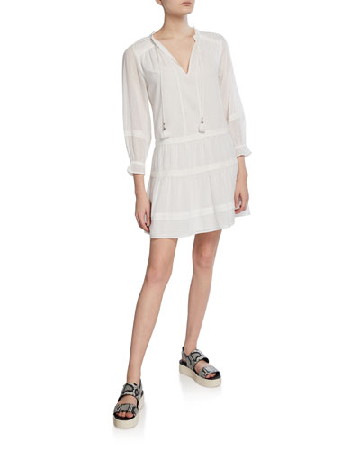 Jaslene Tie-Front Short Dress