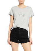 PAIGE Ellison Sing The Blues Away Short-Sleeve Cotton/Modal