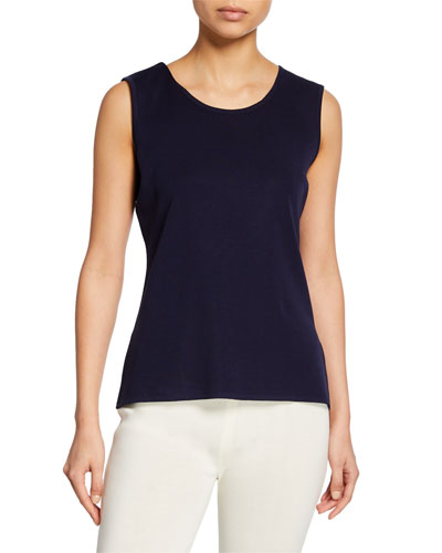 Scoop-Neck Tank, Indigo