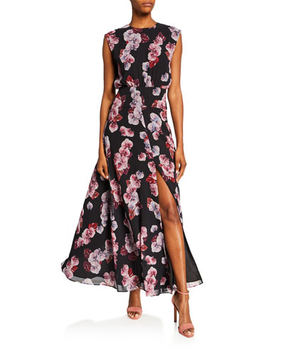4f1cefc88f47 Quick Look. Fame and Partners · High-Neck Floral-Print Sleeveless Maxi Dress  ...