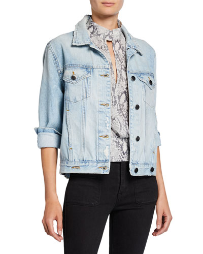 Overlap Denim Trucker Jacket