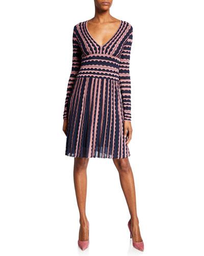 498ffce8 Striped Fitted Dress | Neiman Marcus
