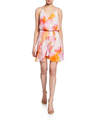 Kesha Sleeveless Flounce Mini Dress