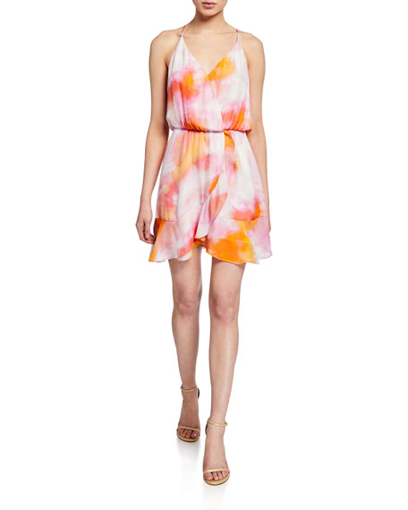 Parker Kesha Sleeveless Flounce Mini Dress