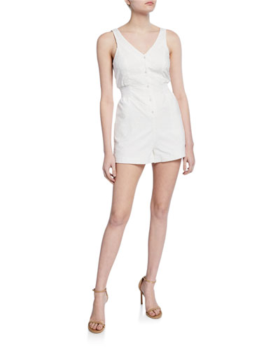 Lorna Cotton Eyelet Tie-Back Romper