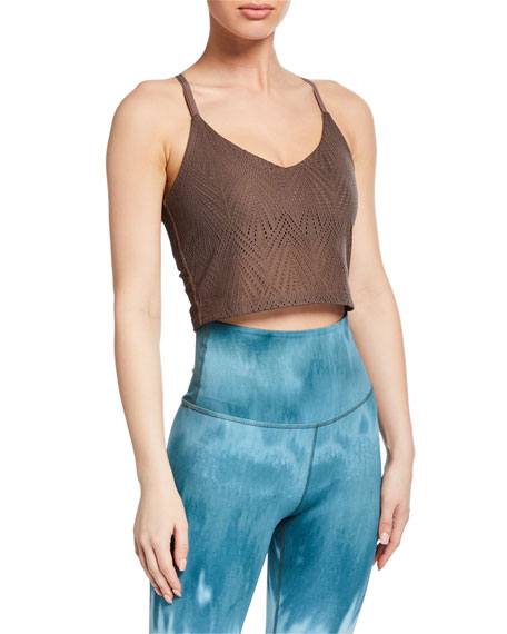 Beyond Yoga Mesh In Line Cropped Tank