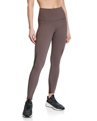 Mesh In Line High-Waist Midi Leggings