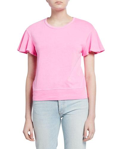 Beach Flutter-Sleeve Sweatshirt