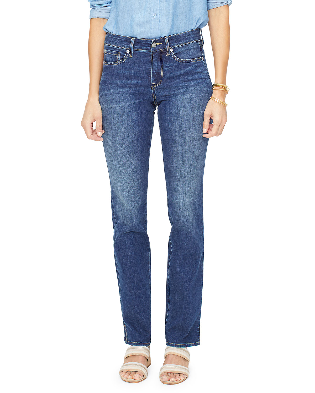 Nydj Jeans MARILYN STRAIGHT JEANS WITH SLIT HEM