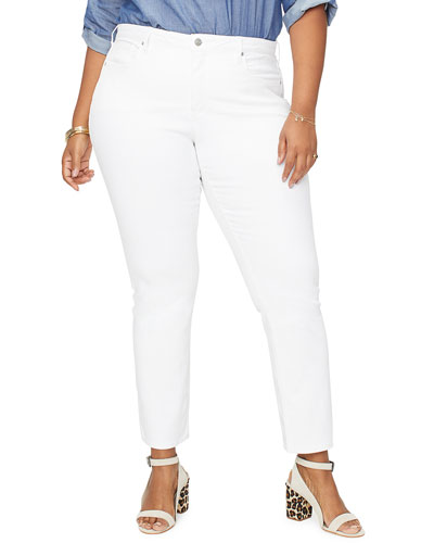 Plus Size Sheri Slim Straight Ankle Jeans