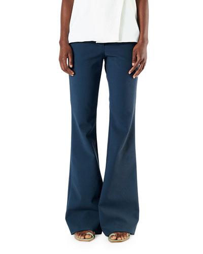 Anson Stretch Slim Boot-Cut Pants