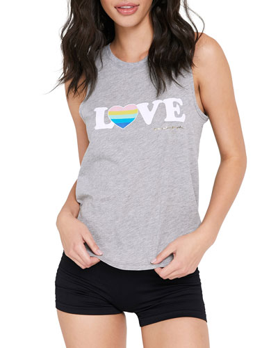 Relax Love-Print Muscle Tank