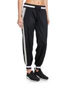 Blanc Noir Kami Silk Jogger Pants