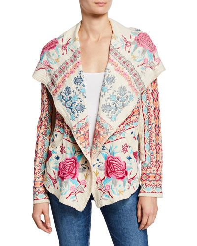 Malanda Embroidered Short Hoodie Jacket