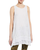 Johnny Was Eve Tiered Eyelet Georgette Tank