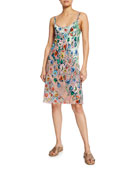 Johnny Was Biana Printed Reversible Georgette Tank Dress