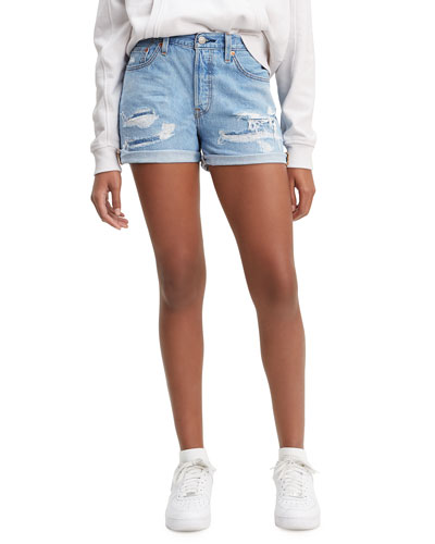 501 Distressed Roll-Cuff Shorts