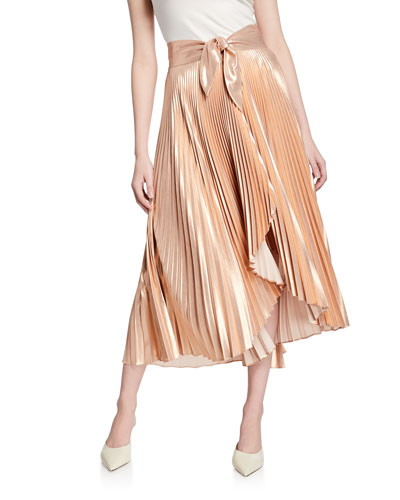 59d1f960e1 Pleated Polyester Skirt | Neiman Marcus