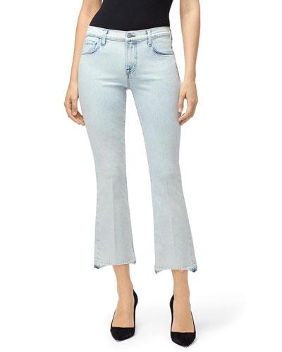 Selena Mid-Rise Crop Boot-Cut Jeans