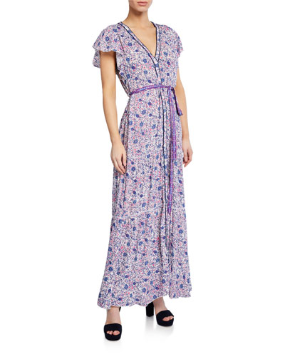 Ola Paneled Long Dress with Ties