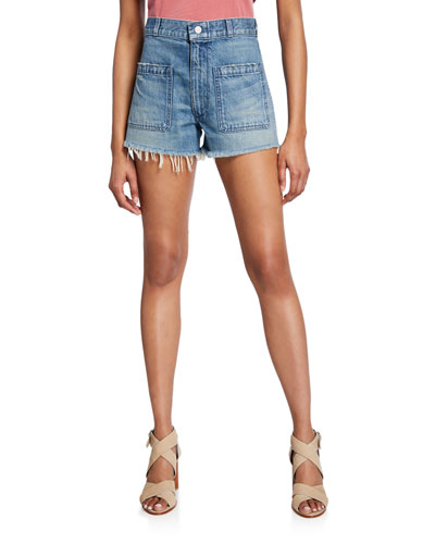 Sailor Cutoff Denim Shorts