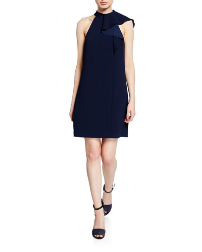 Capilla Halter Flounce Dress