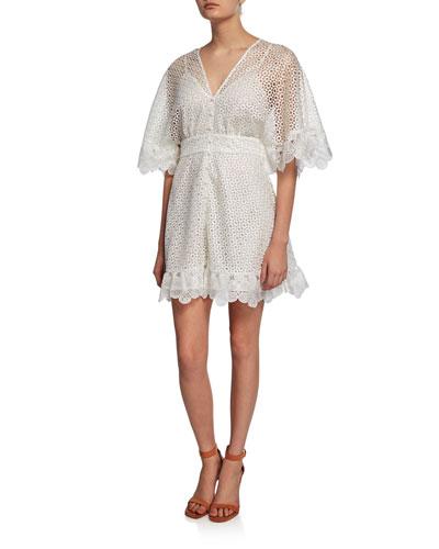 3ddb9925f0a Flutter Sleeves Mini Dress | Neiman Marcus