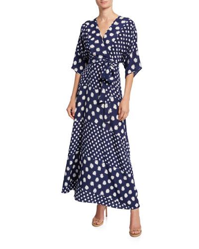 Eloise Floral-Print Asymmetrical Wrap Dress