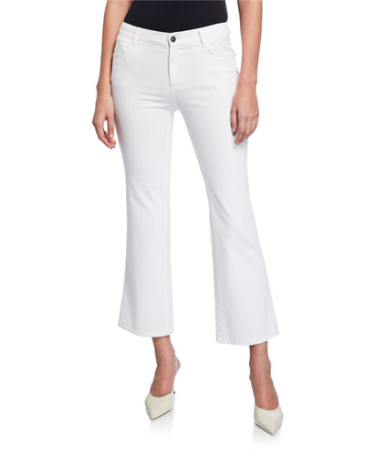 Mercer Cropped Flare Denim Jeans