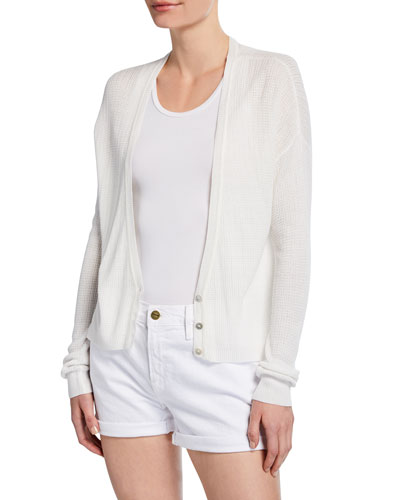 Feretti V-Neck Button-Front Cardigan