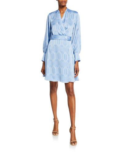 Fanetta Belted Long-Sleeve Dress