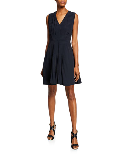 Norice V-Neck Sleeveless A-Line Dress