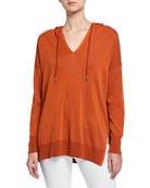 Lafayette 148 New York Long-Sleeve Cotton Crepe Relaxed