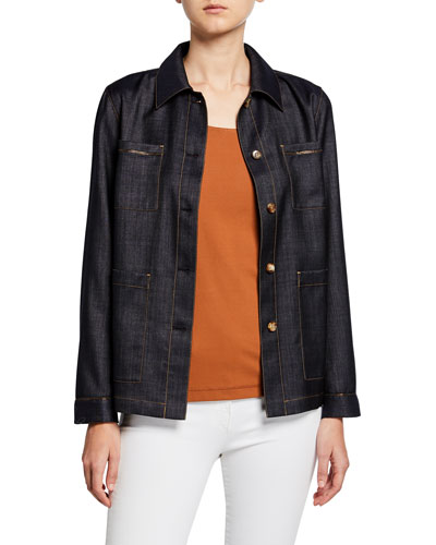 Esmeralda Mercantile Cloth Button-Front Jacket