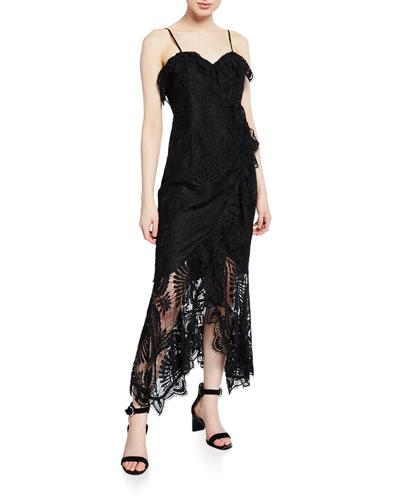 Melinda Sleeveless Lace Cocktail Dress