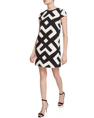 23a8675f367 Quick Look. Diane von Furstenberg · Quinn Printed Cap-Sleeve A-Line Dress