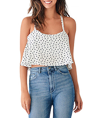 Pearl St. Printed Cropped Tank