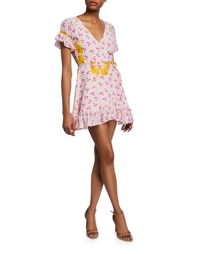 Dory Printed Short-Sleeve Wrap Dress