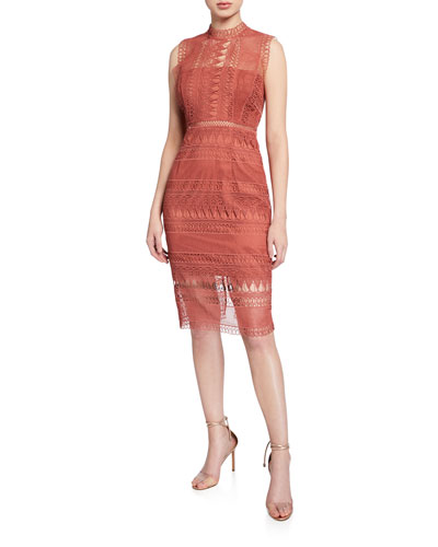 Mariana Sleeveless Lace Body-Con Dress