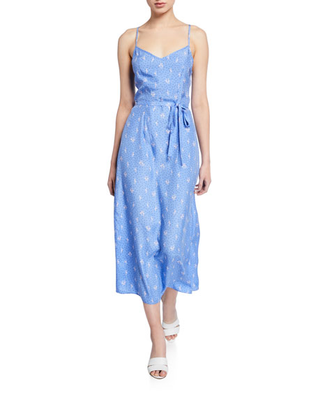 HVN Josephine Long Slip Dress