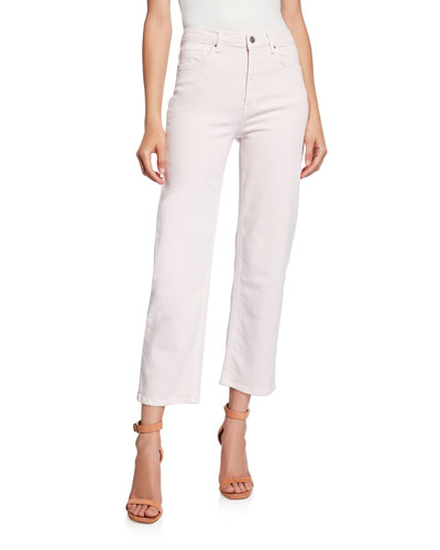 Dominica Cropped Straight-Leg Pants