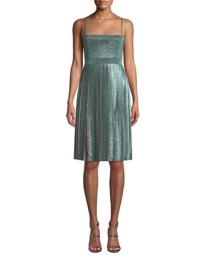 cb9e6d8fac44 Silver Metallic Dress | Neiman Marcus