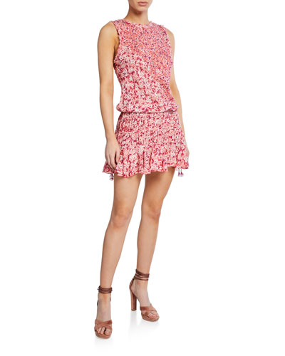 Soledad Open-Back Floral Mini Dress