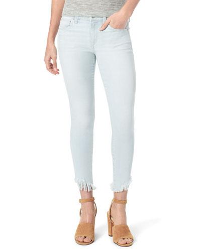 The Icon Crop Chewed-Hem Skinny Jeans