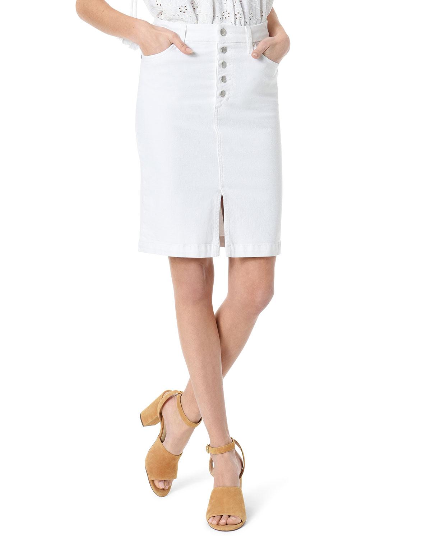 Joe's Jeans Skirts HIGH-RISE SPLIT-FRONT PENCIL SKIRT